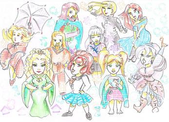 OCs doodles by Akaszik
