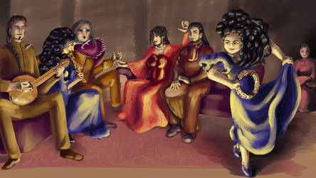 Nuor and her family do music