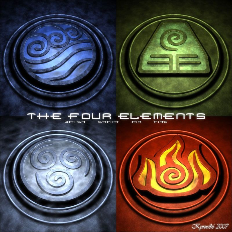 Four Elements Art : The four elements by kyrus on deviantart