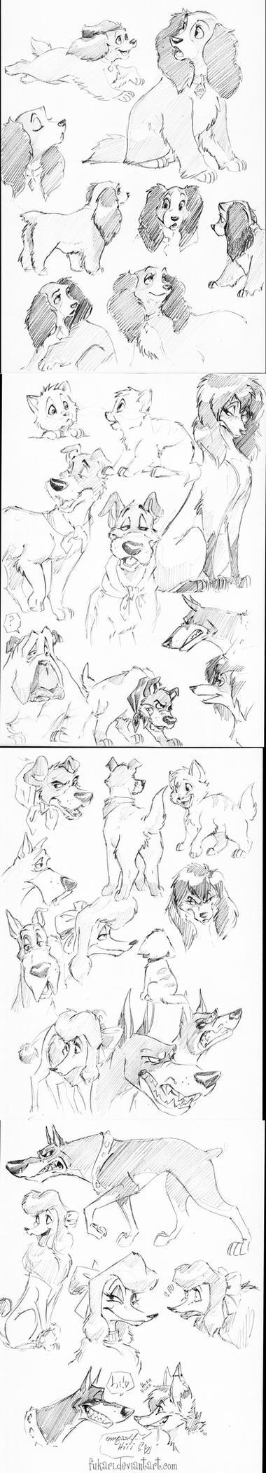 Disney dogs by Fukari