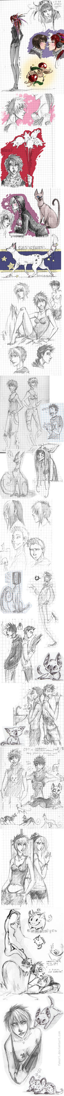 doodles from notebook by Fukari
