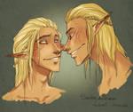 Sandor and Zevran by Fukari