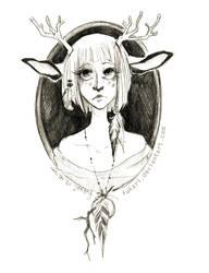 roe-deer girl by Fukari
