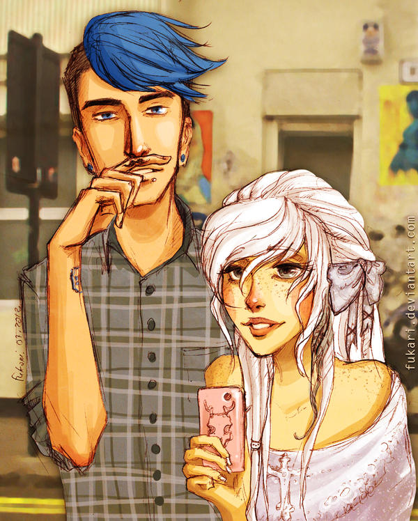 Josh and Aurelia. streets of London by Fukari
