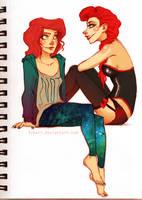 Chelle and Rita by Fukari