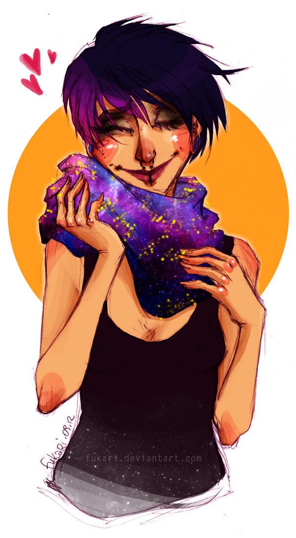 galaxy scarf by Fukari