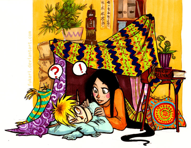 blanket fort by Fukari