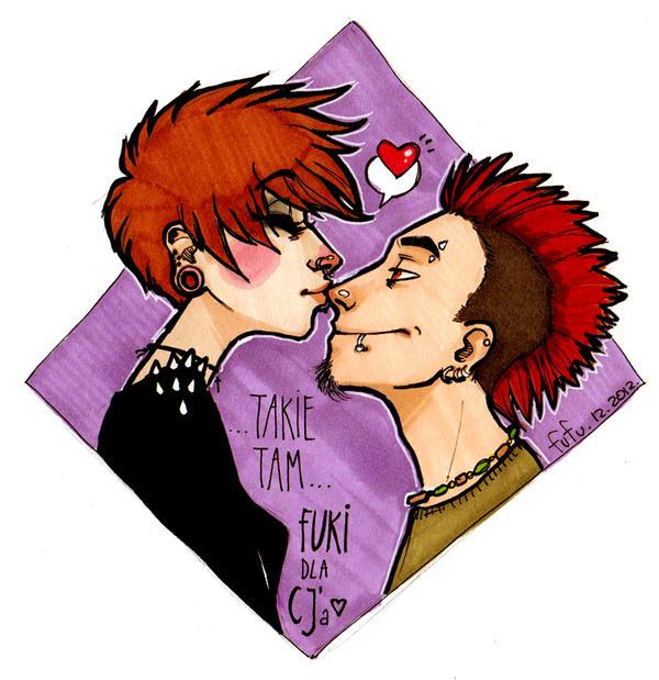 nose kiss by Fukari