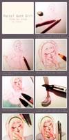 pastel goth girl - step by step