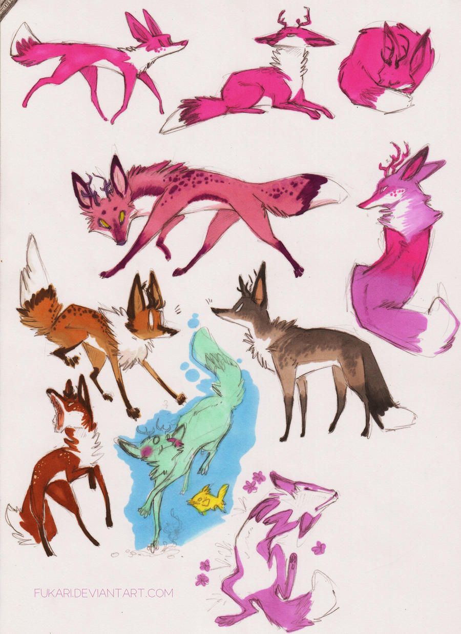 foxes by Fukari