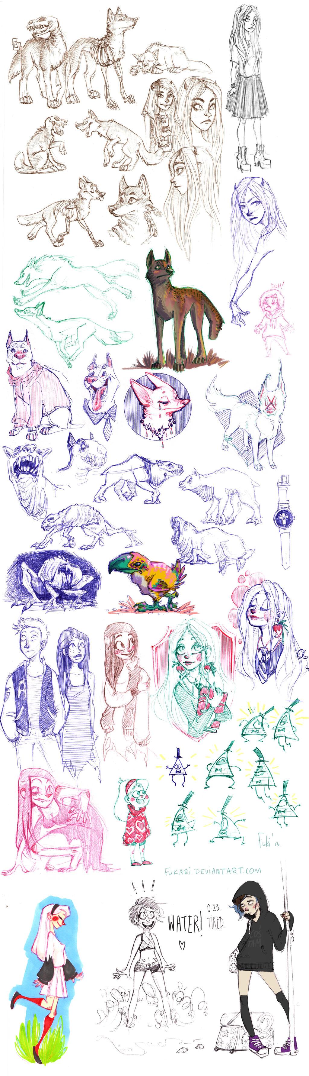 sketch dump from job by Fukari