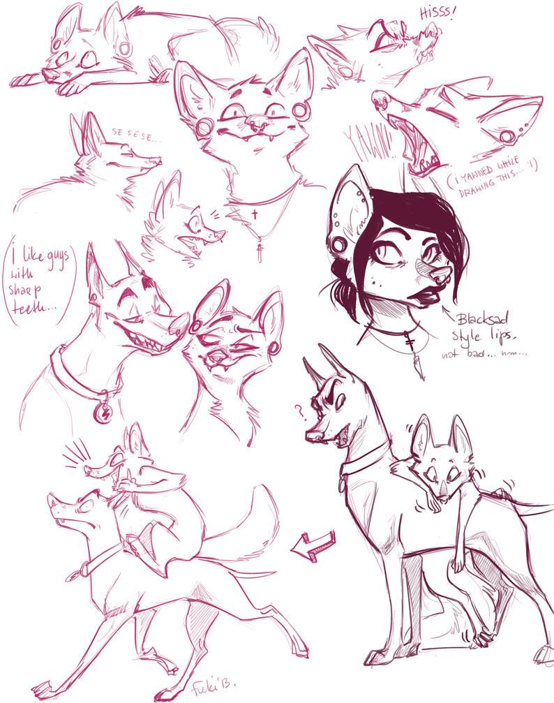 foxy doodles by Fukari