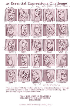 expression sheet - Anne Marie