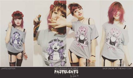 PASTELCATS - new tshirt designs by Fukari