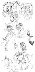warrior princess sketch dump by Fukari