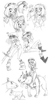 warrior princess sketch dump