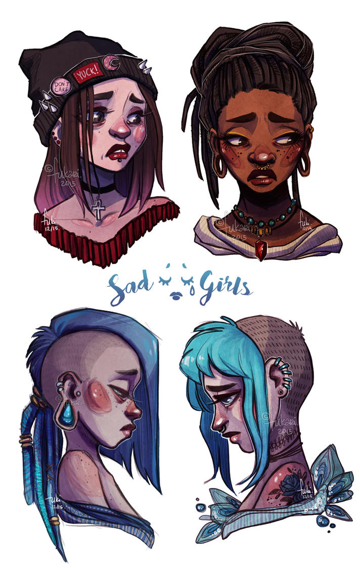Sad Girls Club by Fukari on DeviantArt