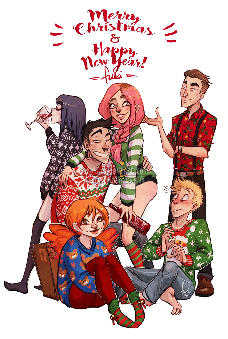 and happiest new year by Fukari