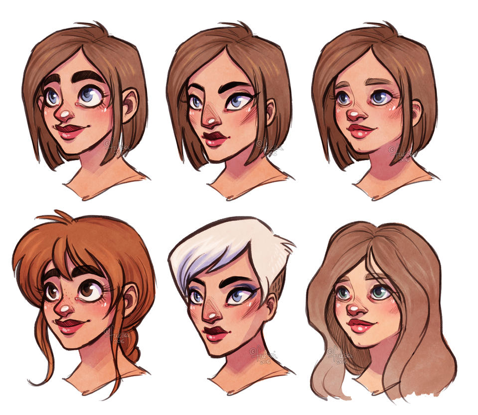 Character Design Face Shapes : Faces excercise by fukari on deviantart
