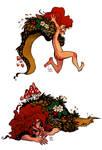 forest girl doodles