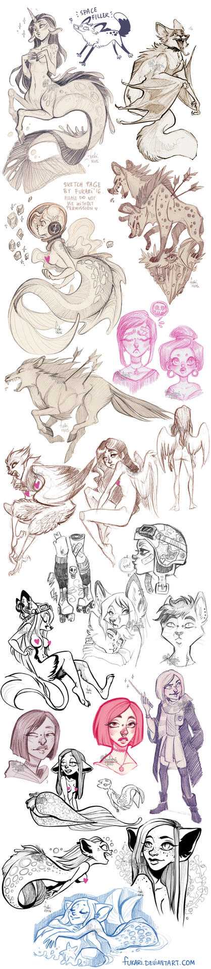 sketch dump of randomness by Fukari
