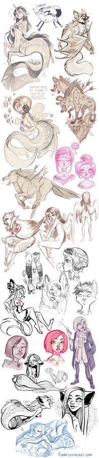 sketch dump of randomness