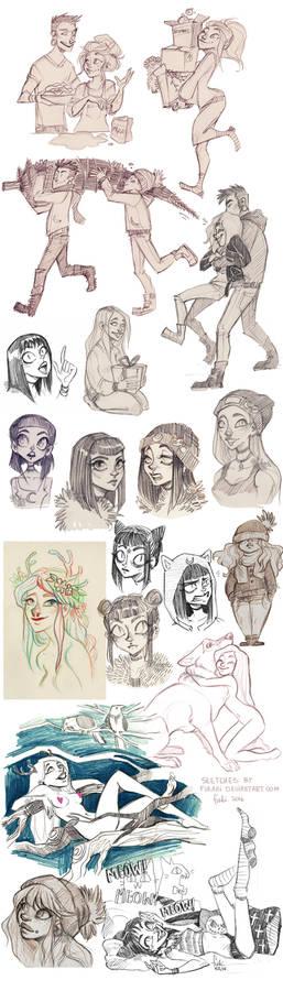 sketch dump - OCs