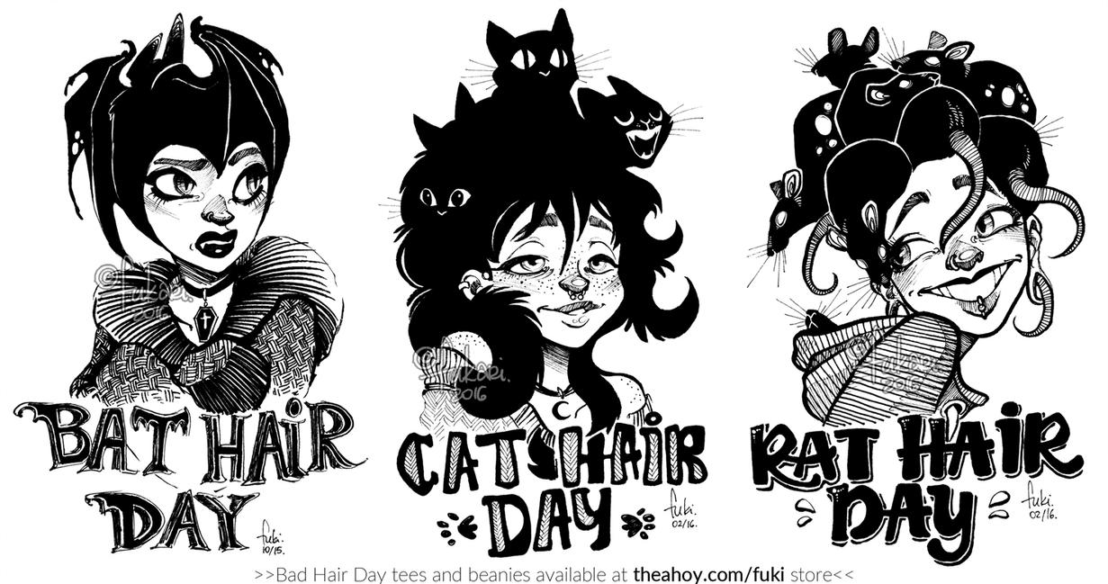 T Shirt Design Line Art : Bad hair day tshirt prints available by fukari on deviantart