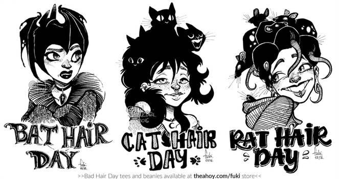 Bad Hair Day - tshirt prints available by Fukari