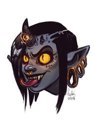 demon girl by Fukari