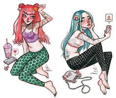social mermaids by Fukari