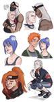 Akatsuki doodles by Fukari