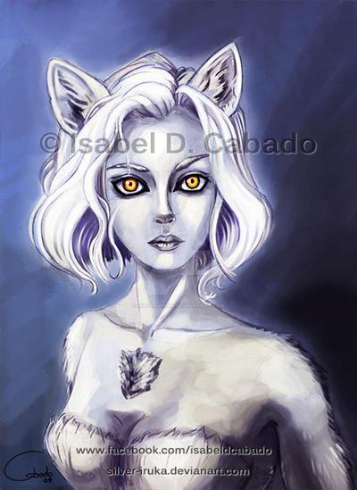 Wolf eyes by Silver-Iruka