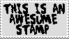 The Awesume Stamp by silverstream25
