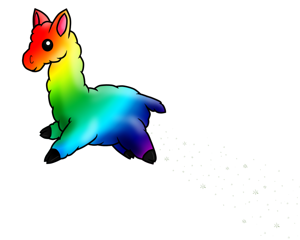 Pin rainbow llama gif on pinterest