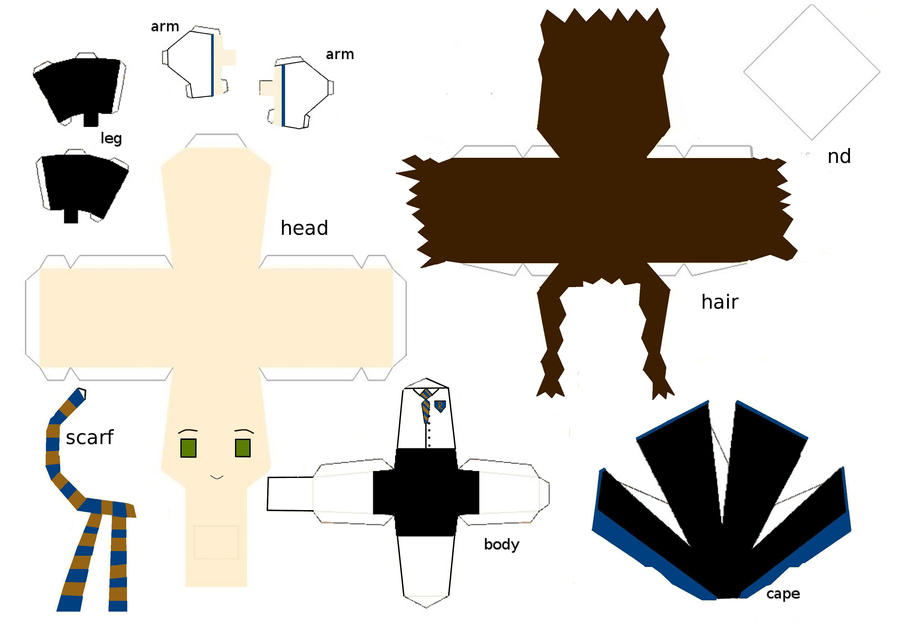 ravenclaw papercraft template by randommanatee