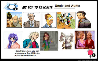 My top 10 Uncle and Aunts for you!!! by Austria-Gentleman
