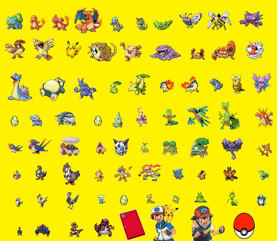 Ashs pokemon (Kanto to Unova) by Austria-Gentleman on ...