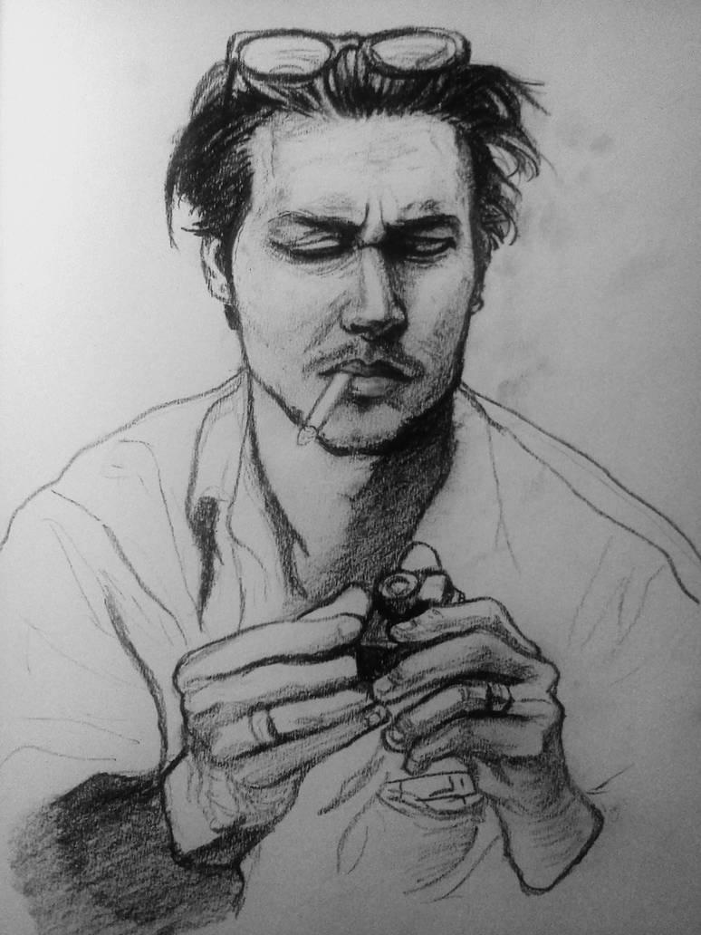 Johnny depp sketch by broseph1138 on deviantart