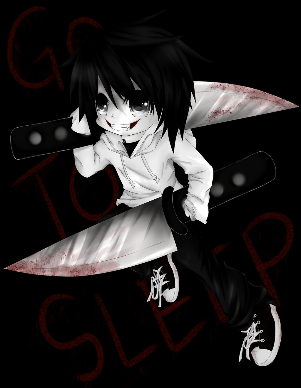Jeff The Killer chibi by Ren-Ryuki
