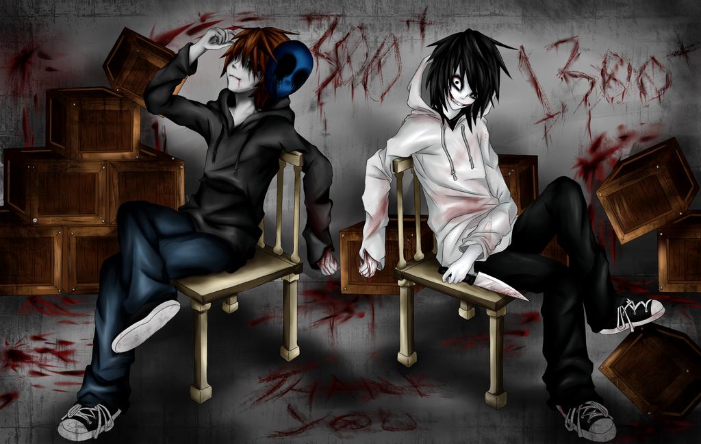 Eyeless Jack and Jeff The Killer (+Thank You!) by Ren-Ryuki