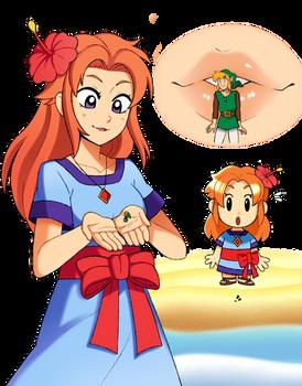 Link's Awakening - Giantess Marin