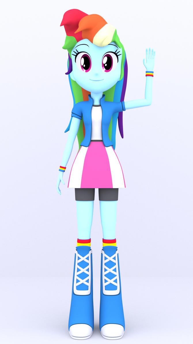 3D Rainbow Dash by MKevinAdam