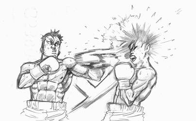 AAAAND NOLO DRAWS FIRST BLOOD!! by smashems