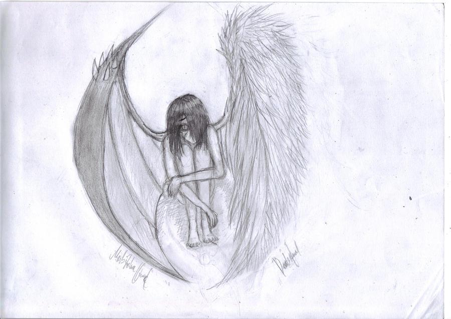 The little sad girl sketch by Darkofmud on DeviantArt