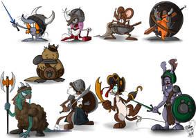 Character design consept - Runepaw Characters