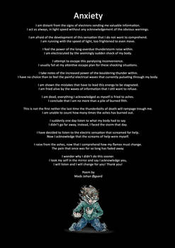 Anxiety poem