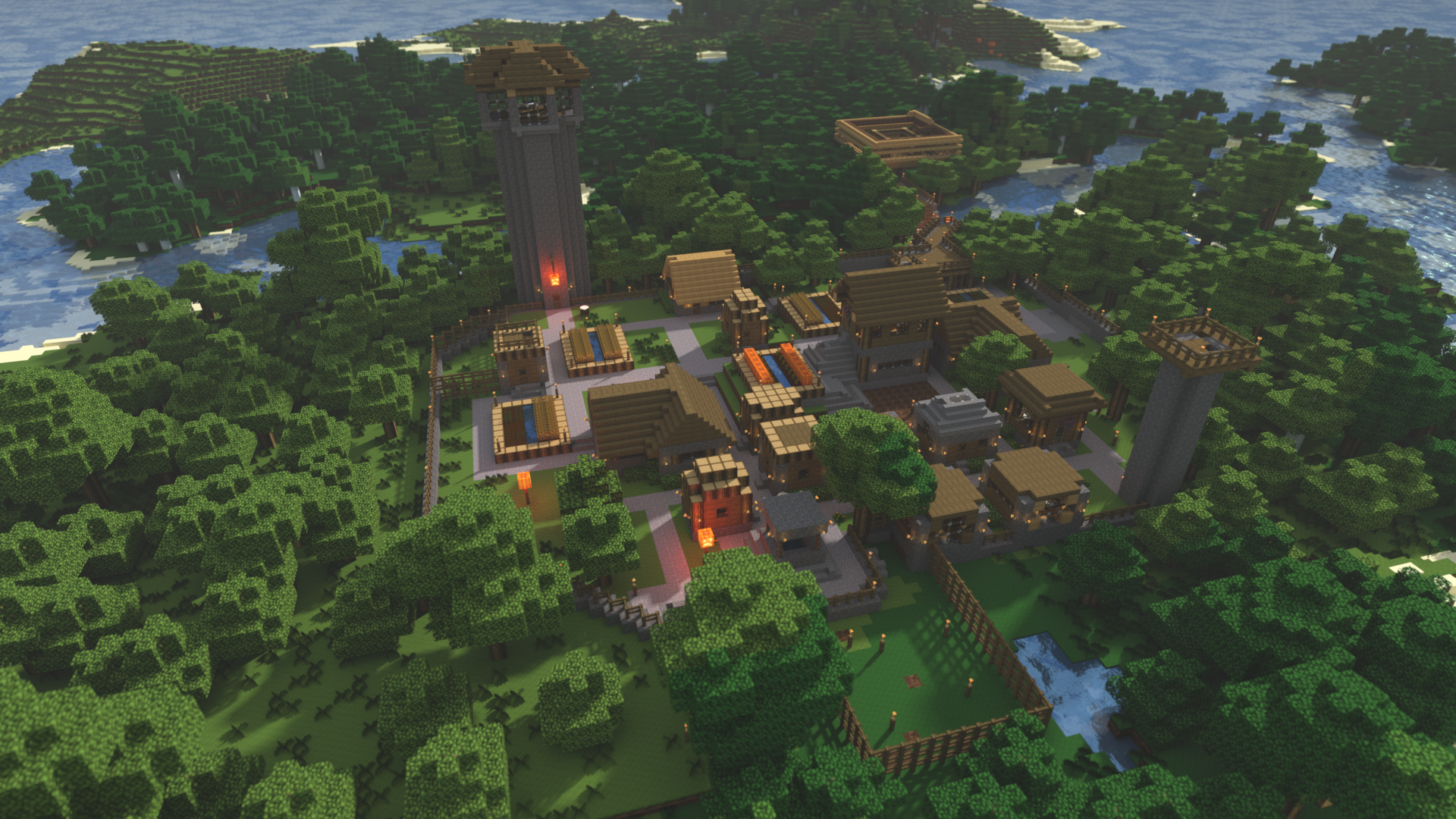 <b>Minecraft village</b> render by fuchi on DeviantArt