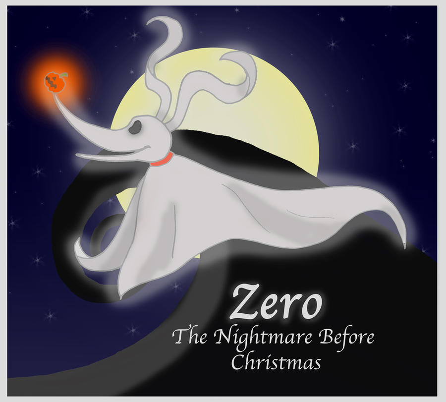 Zero- The Nightmare Before Christmas by iFoxSpirit on DeviantArt Zero Nightmare Before Christmas Pictures