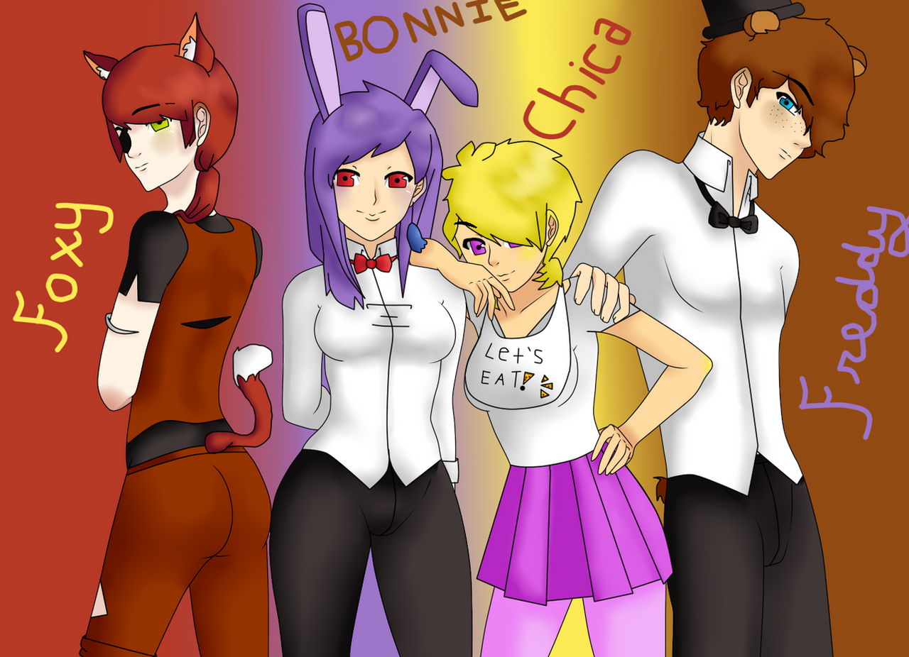 Human Five Nights At Freddys Characters By Artollo2 Corner